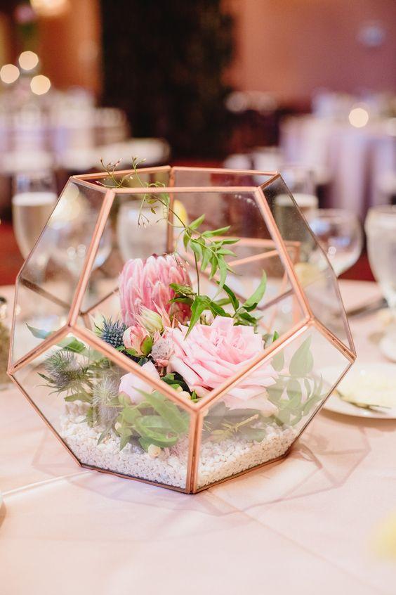 2020 Modern Wedding Trend: Terrarium Geometric Details ...
