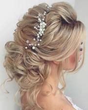 long bridesmaid hair & bridal