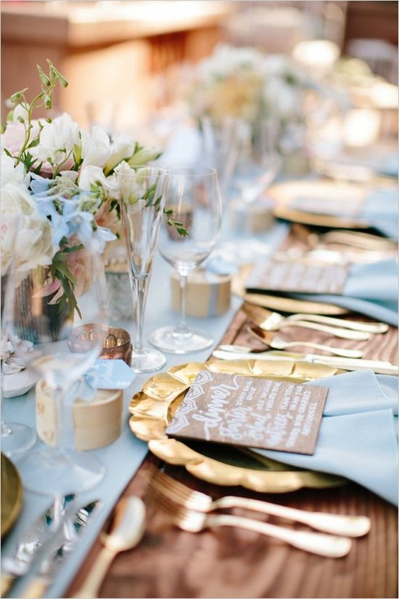 Top 20 Dusty Blue and Copper Wedding Color Ideas  Deer Pearl Flowers