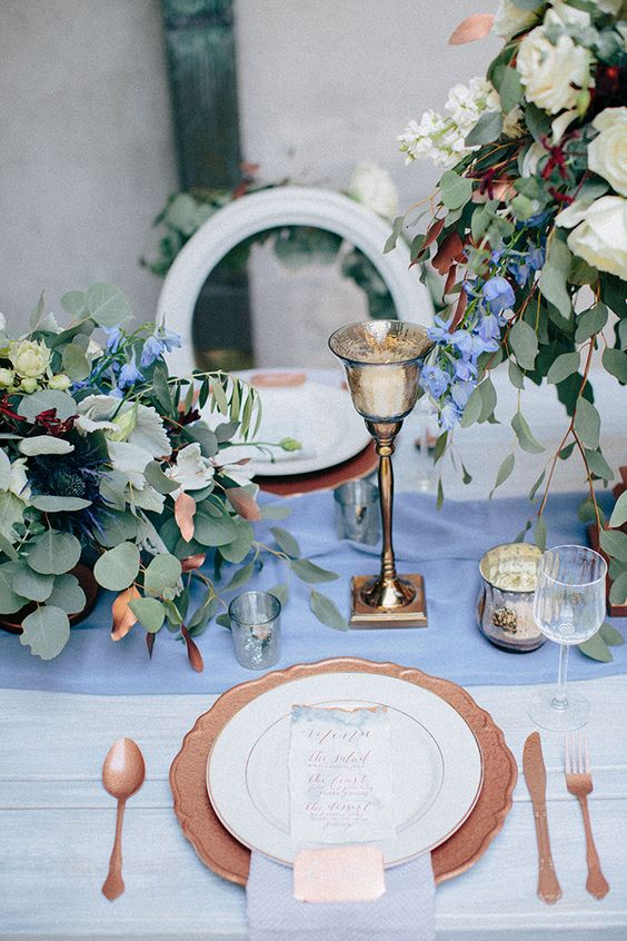 Top 20 Dusty Blue and Copper Wedding Color Ideas  Deer