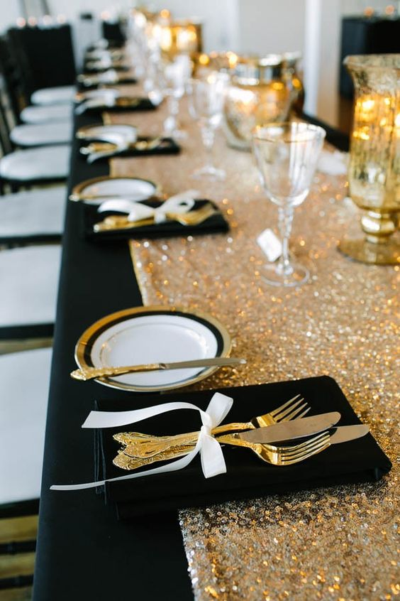 Gloomy Fall Wallpaper 20 Black And Gold Wedding Color Ideas For Fall Winter