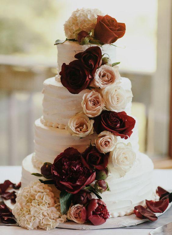 Top 20 Burgundy Wedding Cakes Youll Love Deer Pearl Flowers