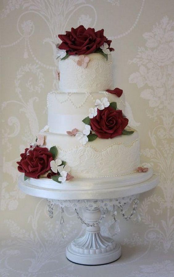 Top 20 Burgundy Wedding Cakes Youll Love Deer Pearl