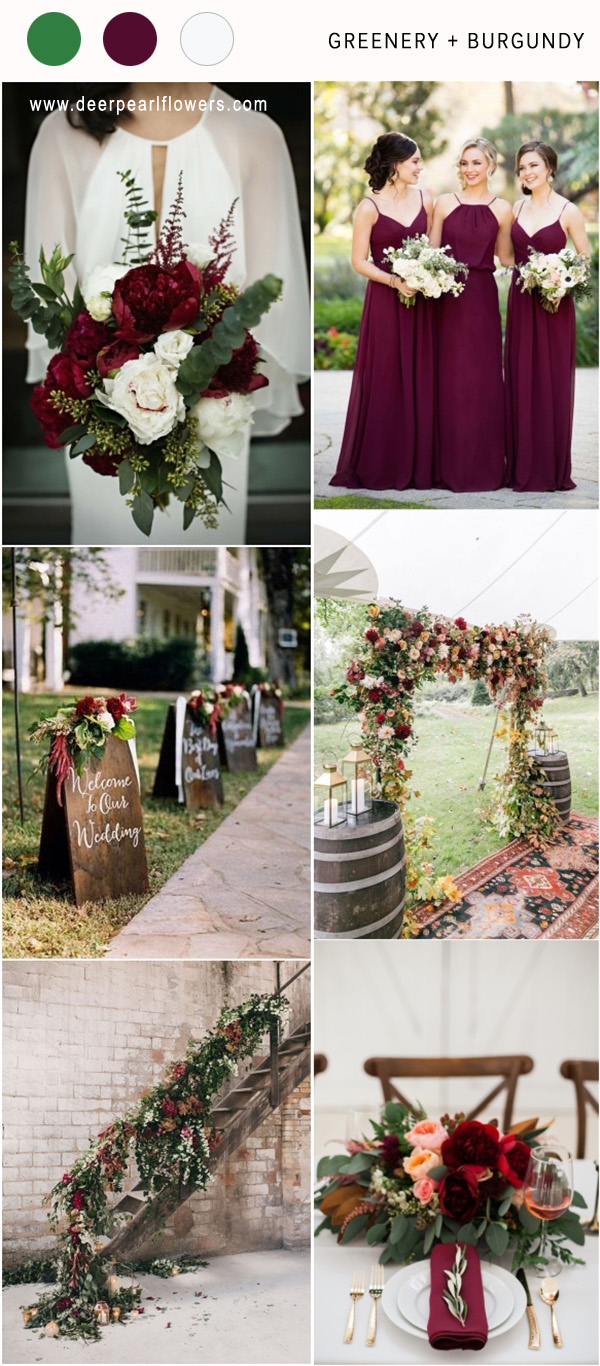 Top 8 Greenery Wedding Color Palette Ideas for 2018  Deer Pearl Flowers