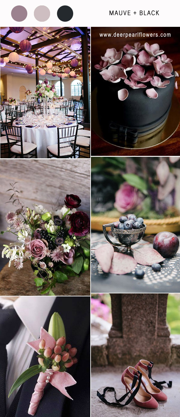 Best 6 Mauve Wedding Color Combos for 2018  Deer Pearl Flowers