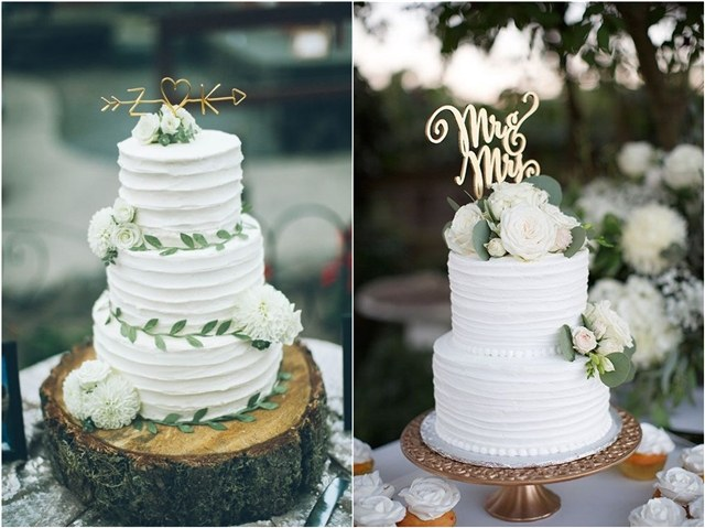 20 Greenery Wedding Cakes That Are Naturally Gorgeous
