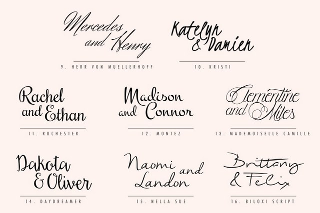 80 Free Calligraphic Script Fonts For Wedding Invitations