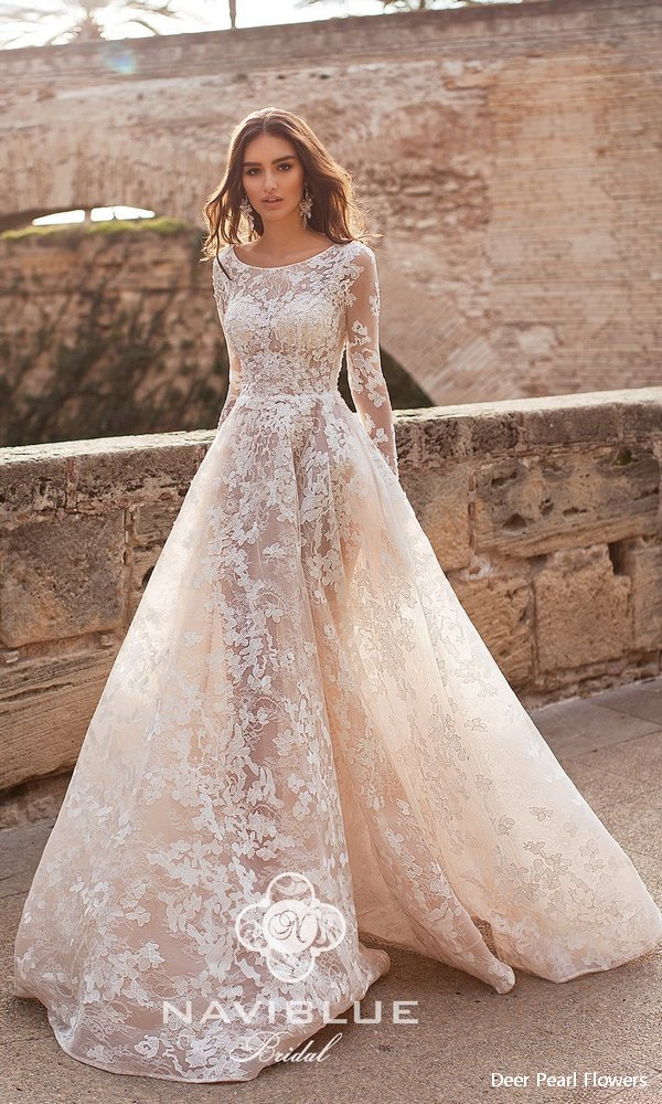 Naviblue 2019 Wedding Dresses  Dolly Collection  Deer Pearl Flowers