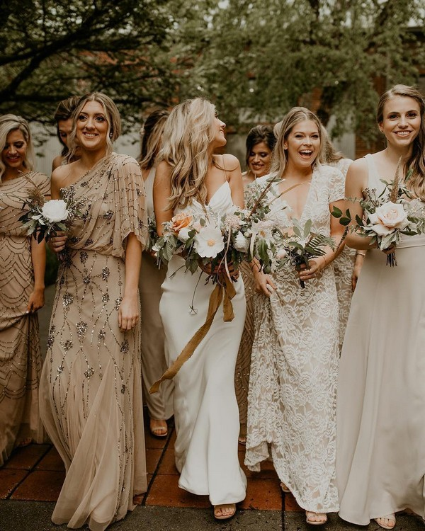 Vintage boho bridesmaid dresses4