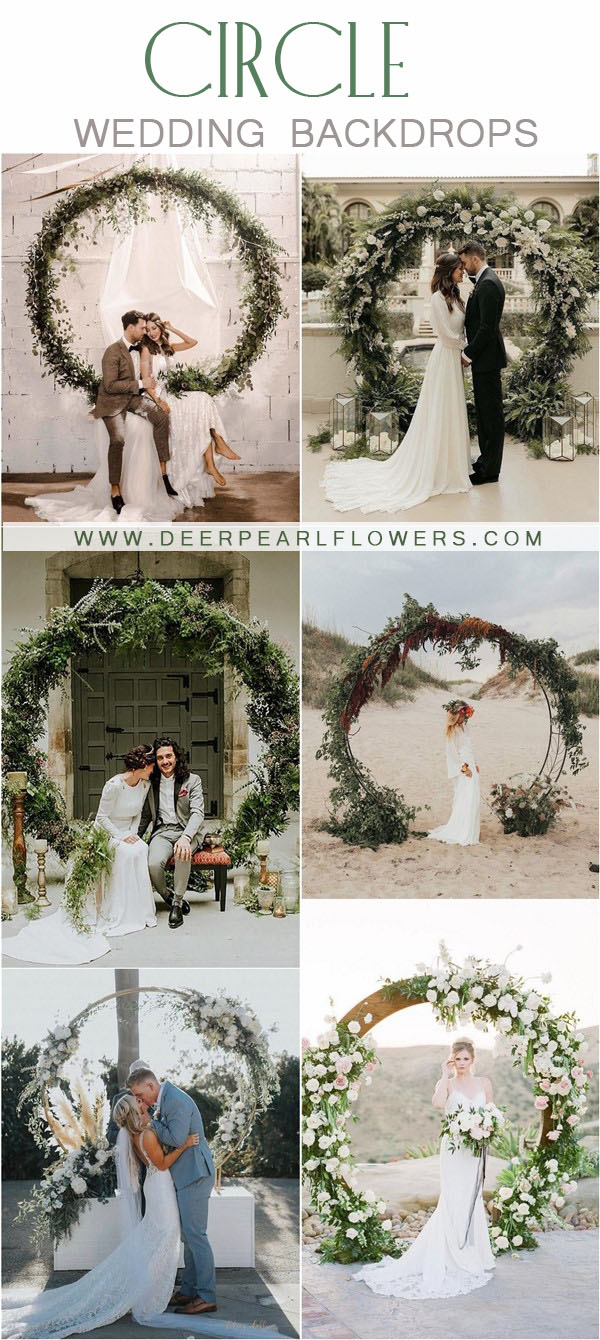 greenery wedding wreath background ideas