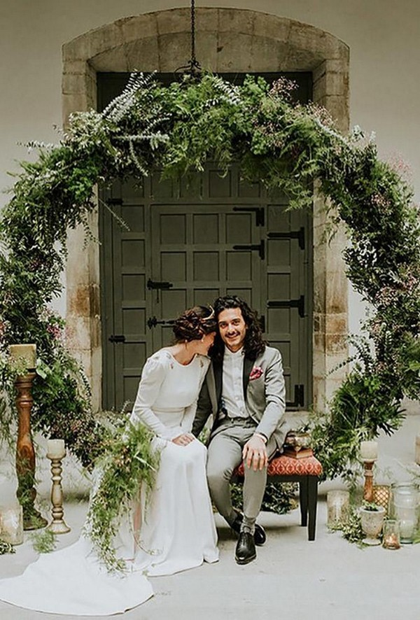 wedding floral moon gates boho greenery arch m2visualstudio