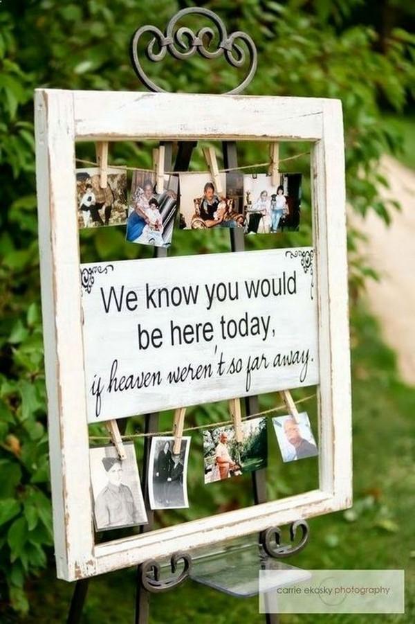 Honoring deceased parent on wedding