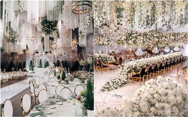 Luxury wedding ceremony and reception decoration ideas