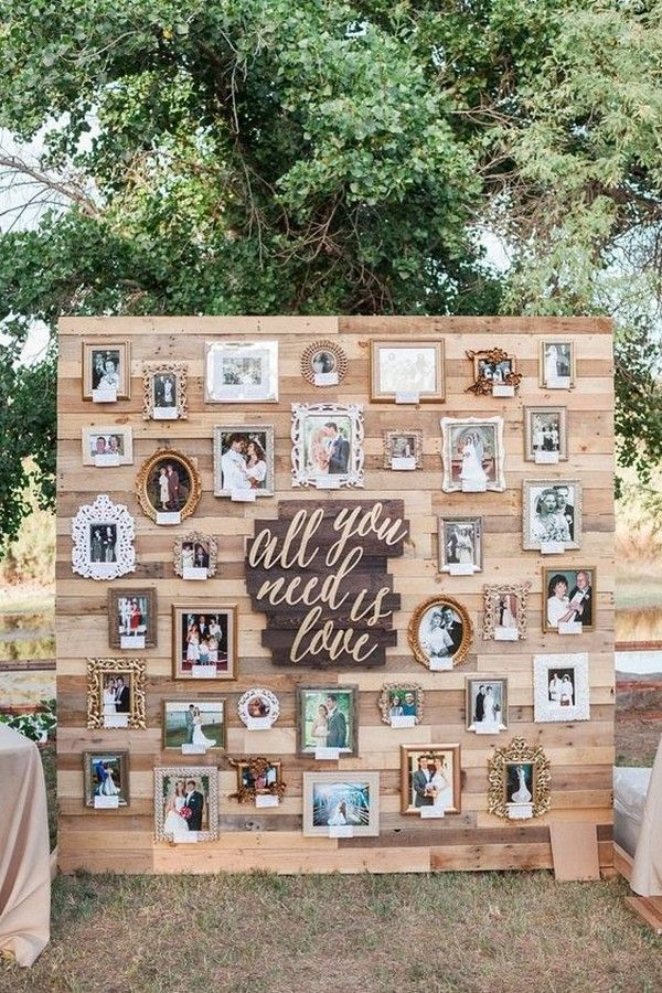 outdoor wedding decoration ideas with wooden pallets