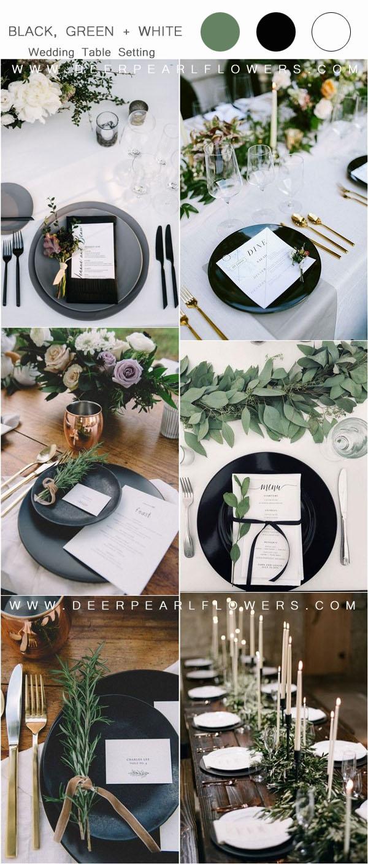 white wedding table setting ideas