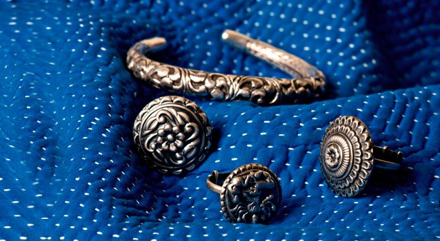 gold plated chunky silver jewelry