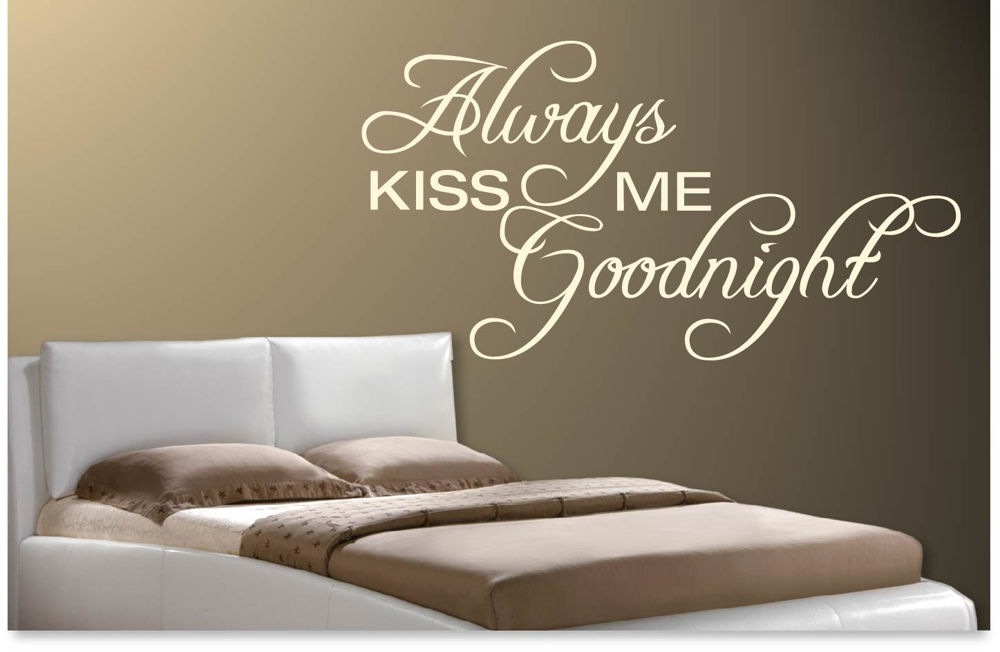 Muursticker Always kiss me goodnight  De Fabriek Muurstickers