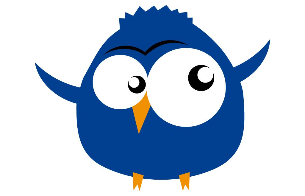Muursticker Vogel Blauw  Vogeltjes  De Fabriek Muurstickers