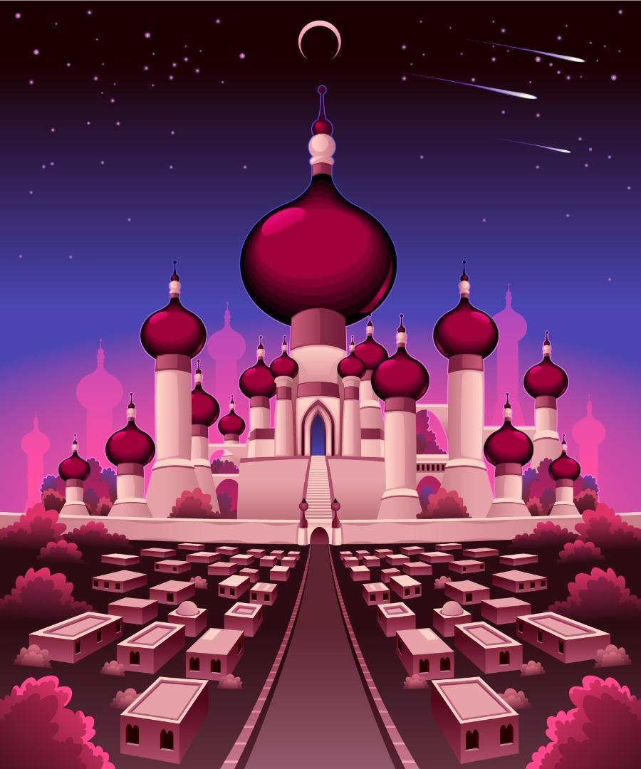 Fotobehang Paleis Aladdin  De Fabriek Muurstickers