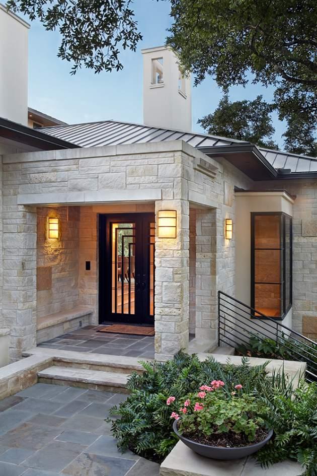 Casa de Lujo Moderna con un Estilo Tradicional  Fachadas