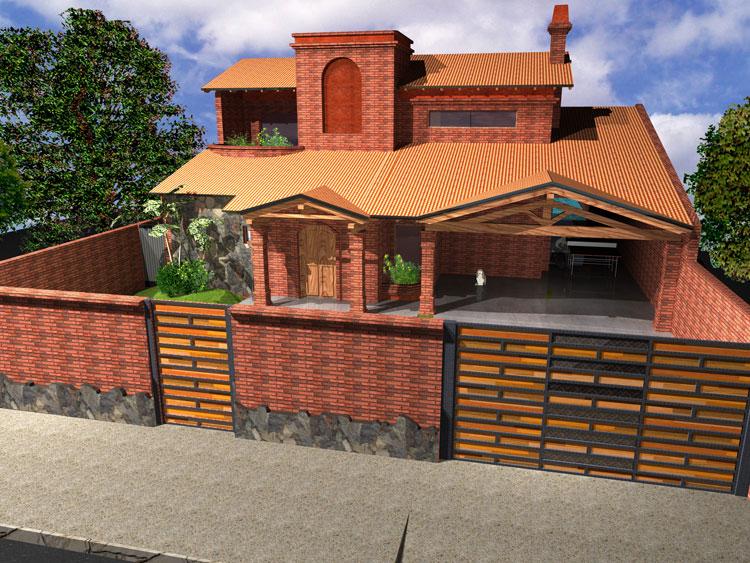 Fotos de casas de ladrillo  Fachadas de Casas  Fotos de