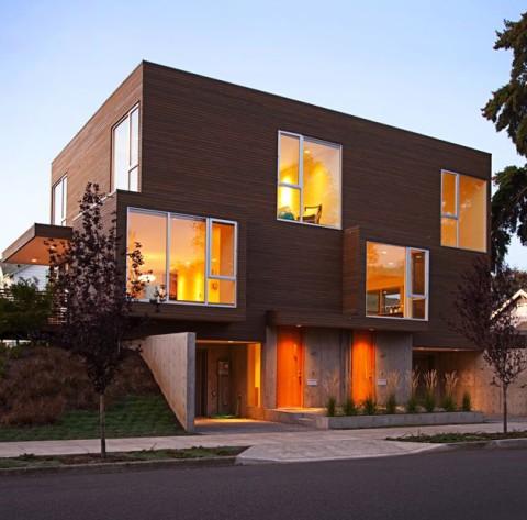 Fachada de apartamentos clidos y modernos  Fachadas de
