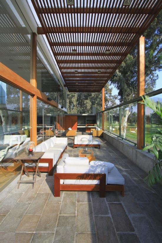 Casa moderna con jardn de invierno  Fachadas de Casas