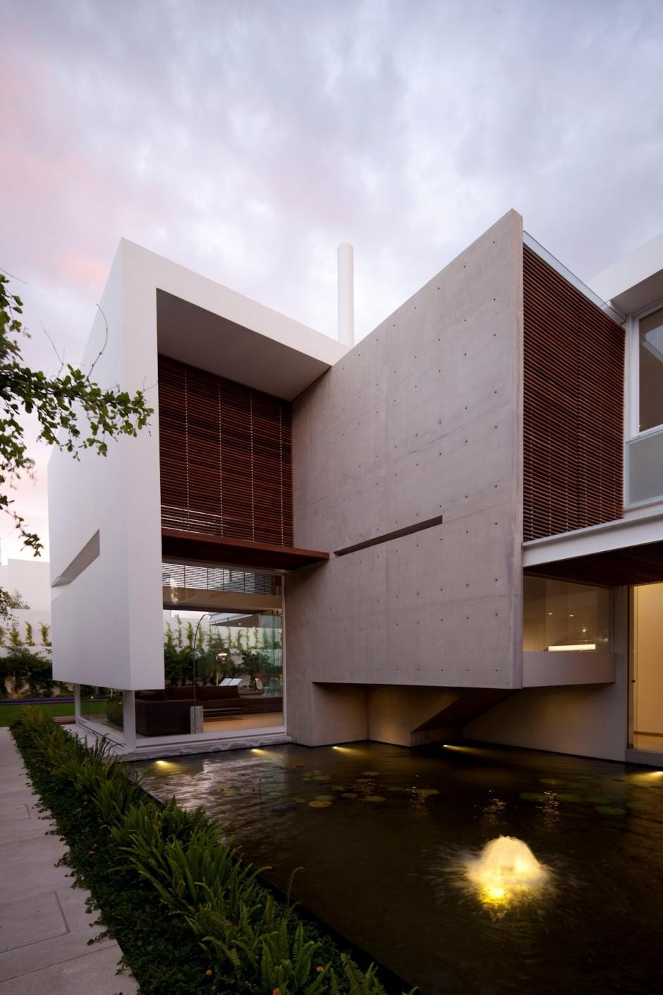 Maravillosa fachada de casa moderna en Mxico  Fachadas