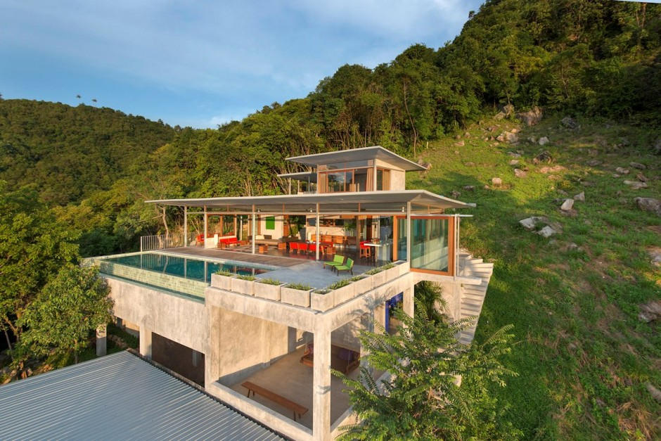 Casa moderna y ecolgica en la selva  Fachadas de Casas