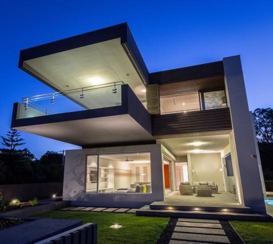 Estupenda casa minimalista en Australia  Fachadas de