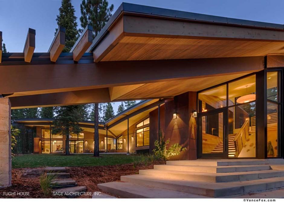 Fantstica casa moderna en el bosque  Fachadas de Casas