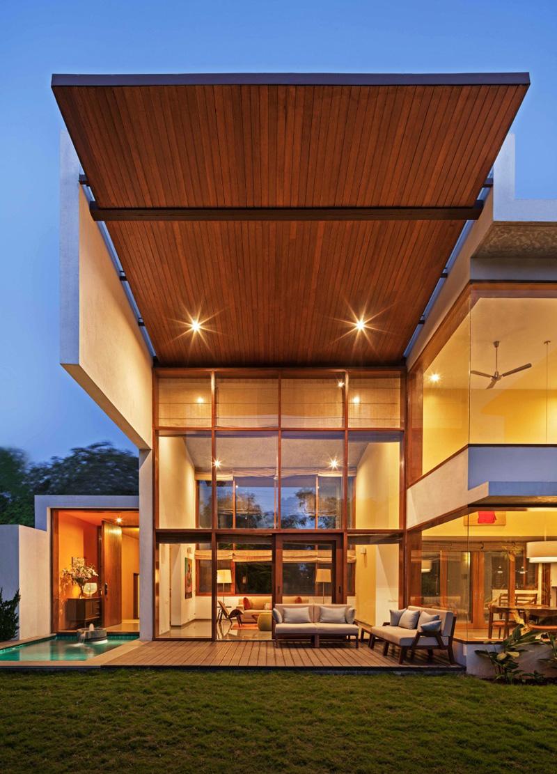Maravillosa fachada de casa moderna en Bangalore