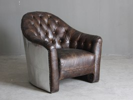 Single Seater Leather Sofa Vintage Brown Leather Sofa For ...