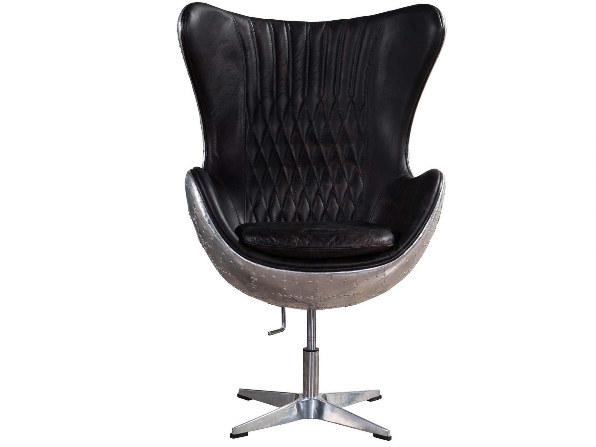 vintage egg chair walmart zero gravity aviator leather fiberglass inner frame 43