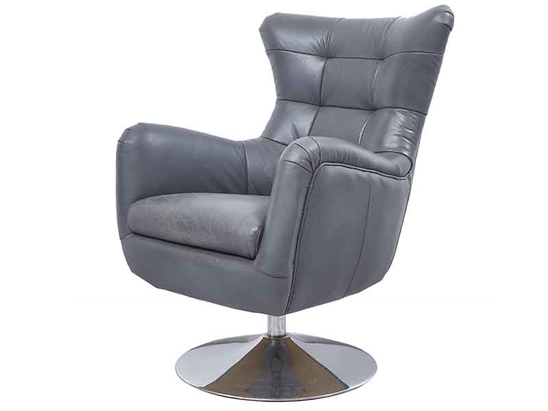 swivel chair and ottoman vector design vintage gray leather wing back