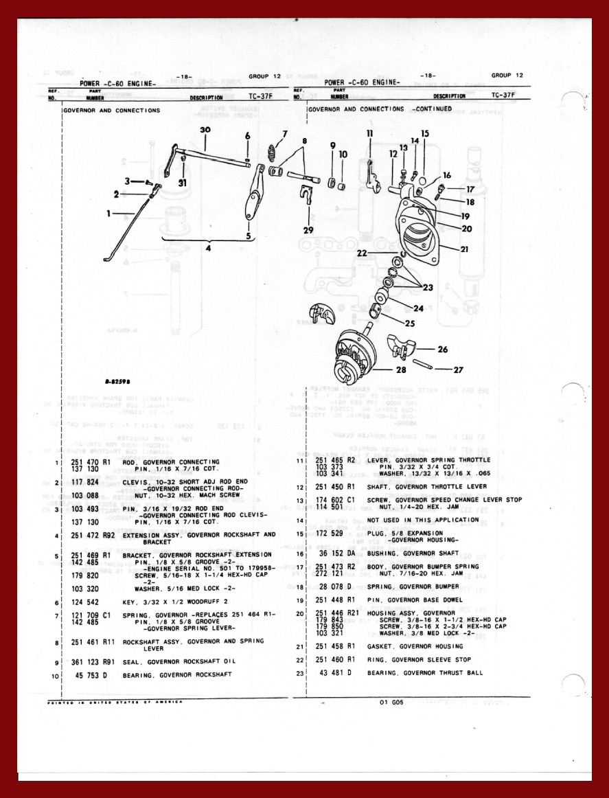 medium resolution of farmall cub governor parts rh defarmallcubs com 1951 farmall cub wiring diagram farmall cub wiring