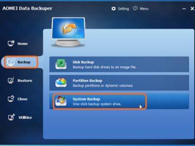 AOMEI Backupper software free per fare i backup di pc e server