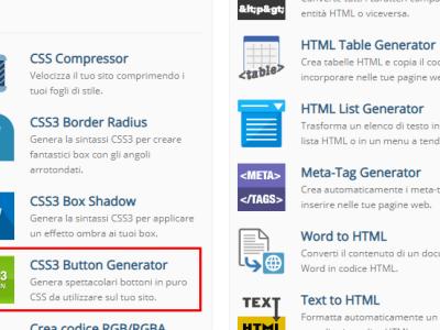 Generatore di bottoni online