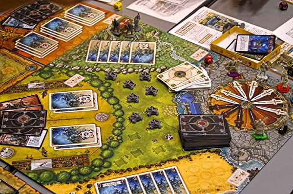 A game of Shadows Over Camelot in progress