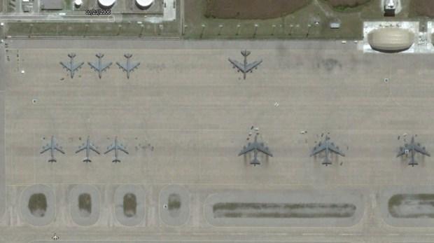 Boeing KC-135 Stratotanker_parked at diego garcia