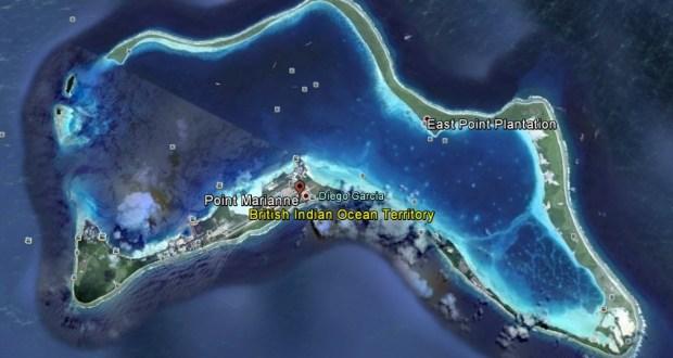 Diego Garcia an USAF base in Indian Ocean