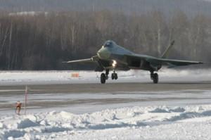 Maiden flight of Su-PAKFA a Russian Stealth Fighter