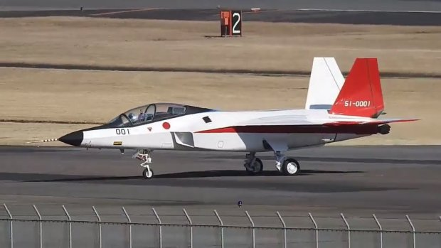 Japanese 5th generation fighter Mitsubishi X-2 Shinshin makes first flight