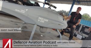 DA #5: LIVE from Aero India 2017 - Unmanned Aerial Vehicle (UAV) industry in India with David Willems of UMS Skeldar
