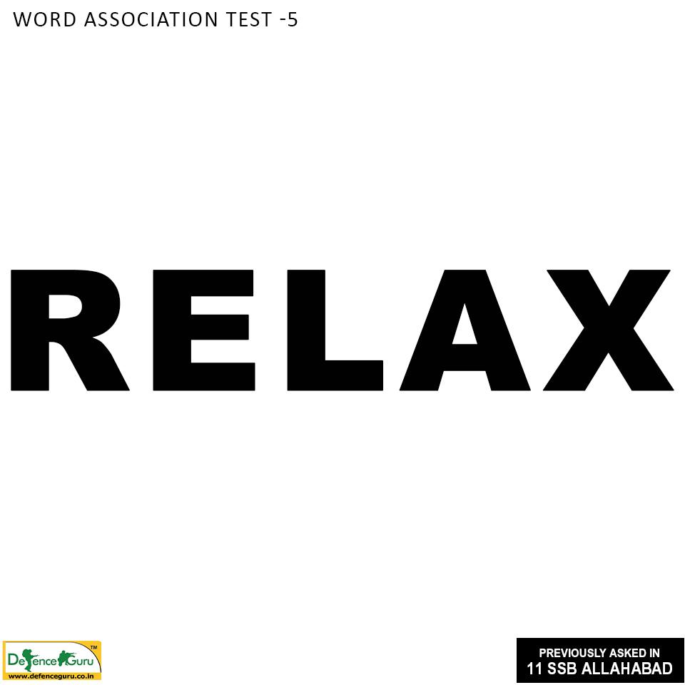 word association test relax