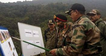 Top officer reviews the progress of critical roads on China border 1