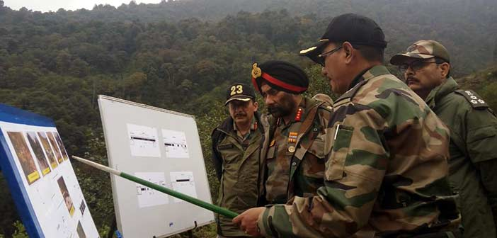 Top officer reviews the progress of critical roads on China border 4