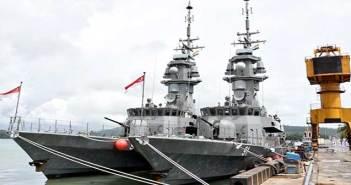 India-Singapore navies begin biggest weapon firing drill Simbex 14