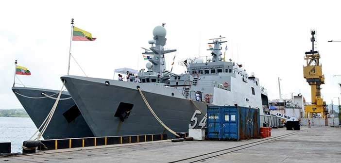 Indian Navy begins joint military exercise with Myanmar Navy 1