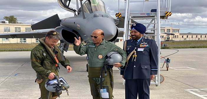 Rajnath Singh Rafale Flight